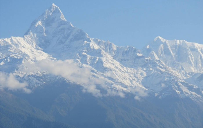 Machhapuchhare and Annapurna III , Nepal