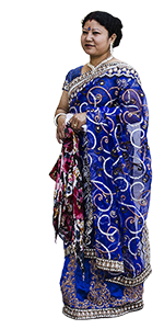 Lady in traditional sari