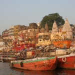 a boat on the ganges 9